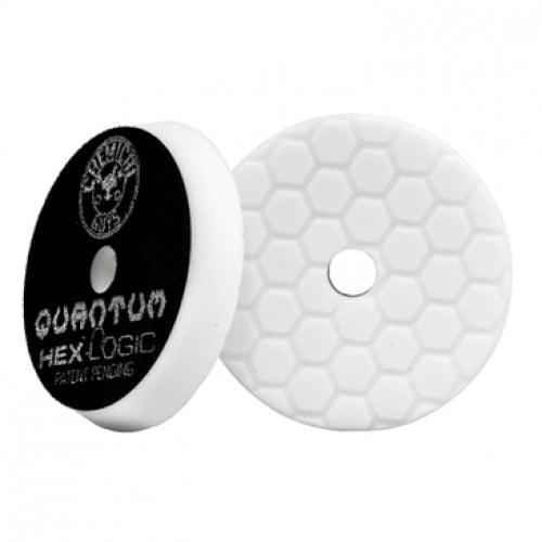 Chemical Guys BUFX114HEX6 - Σφουγγάρι Γυαλίσματος Μαλακό -Μεσαίο Hex-Logic Quantum Light-Medium, Λευκό 165mm
