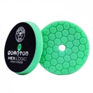 Chemical Guys BUFX113HEX6 - Σφουγγάρι Γυαλίσματος Σκληρό Hex-Logic Quantum Heavy Polishing, Πράσινο 165mm